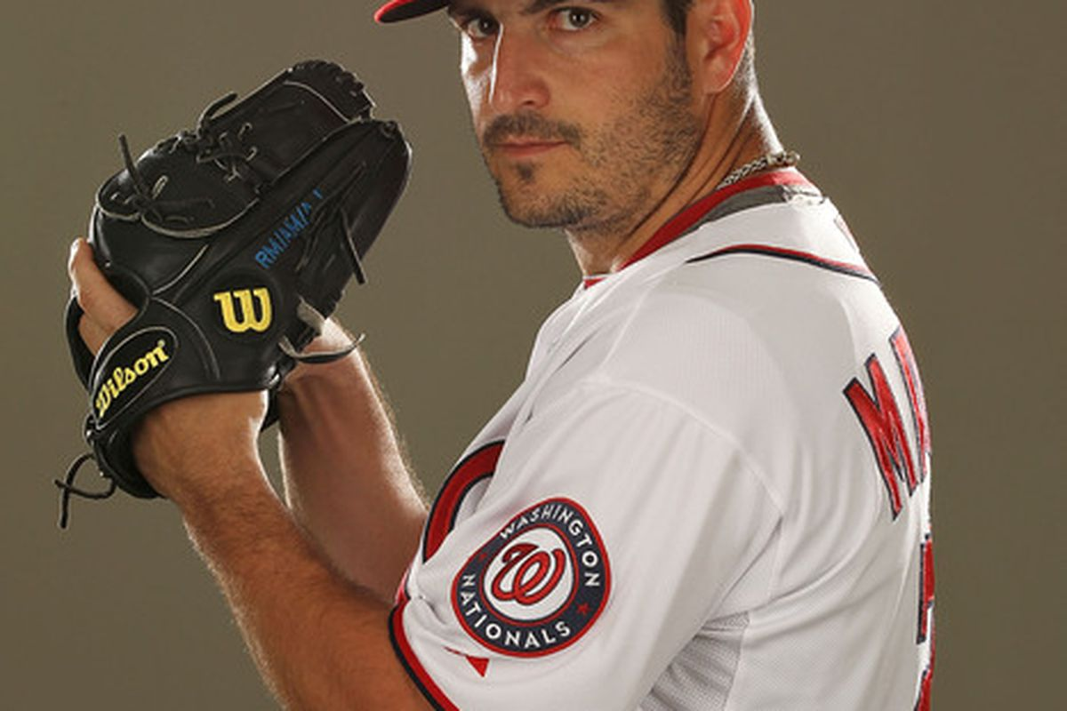 VIERA FL - FEBRUARY 25:  Jason Marquis #21 of the Washington Nationals poses for a portrait during Spring Training Photo Day at Space Coast Stadium on February 25 2011 in Viera Florida.  (Photo by Al Bello/Getty Images)