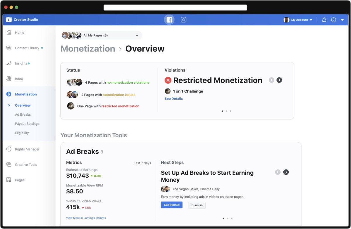 Facebook is trying to entice creators with more monetization