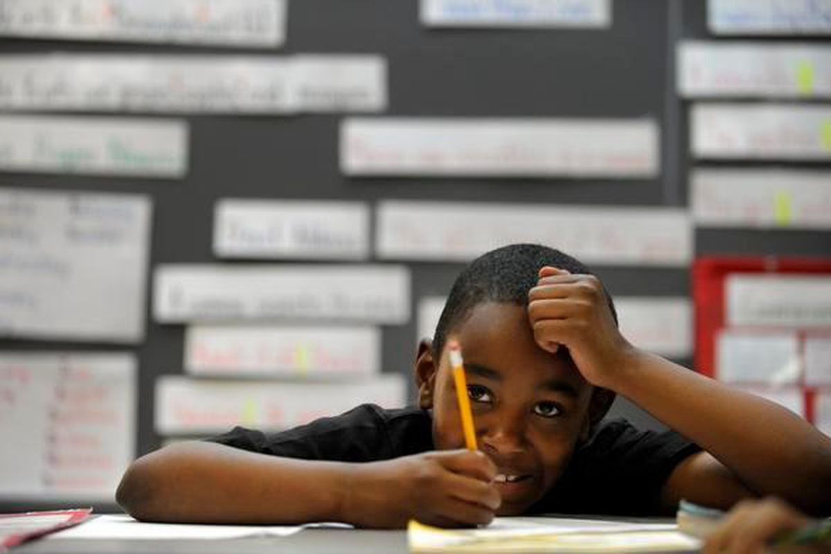 File photo of student at Marrama Elementary School in northeast Denver. (The Denver Post)