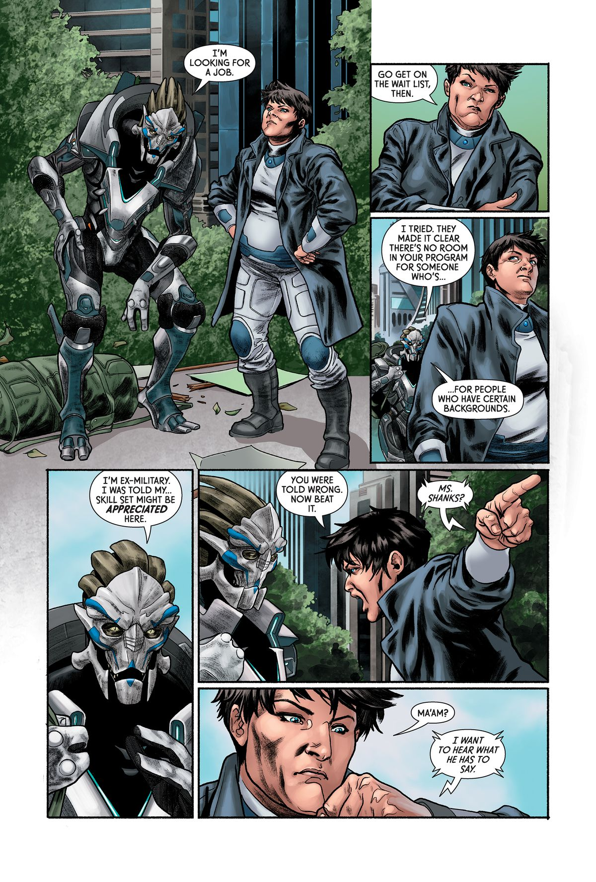 From Mass Effect: Discovery, Dark Horse Comics 2017.