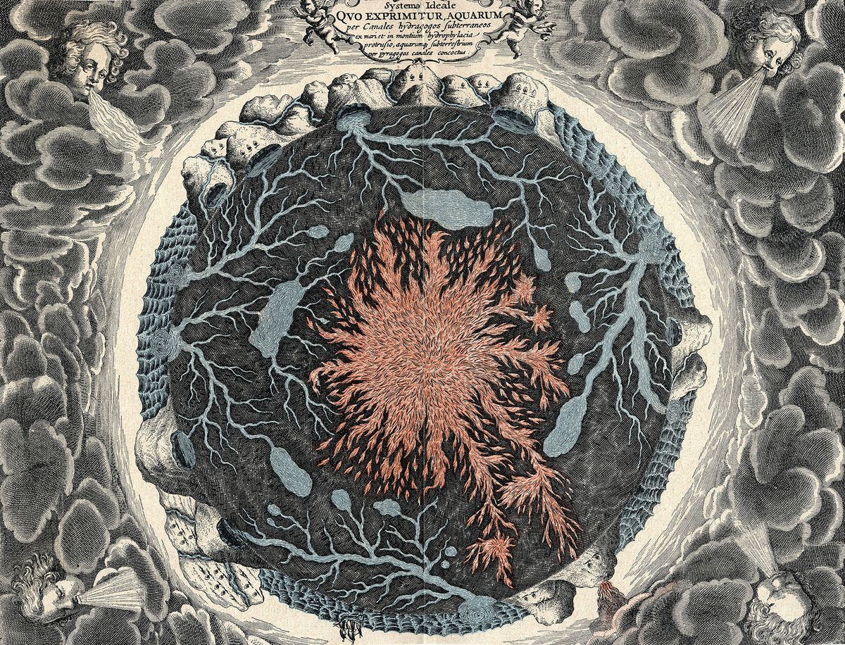 From Kircher's Mundus Subterreanus, the underground network of fire and water that he believed formed Earth's interior. (Unviersal Images Group/Getty Images)