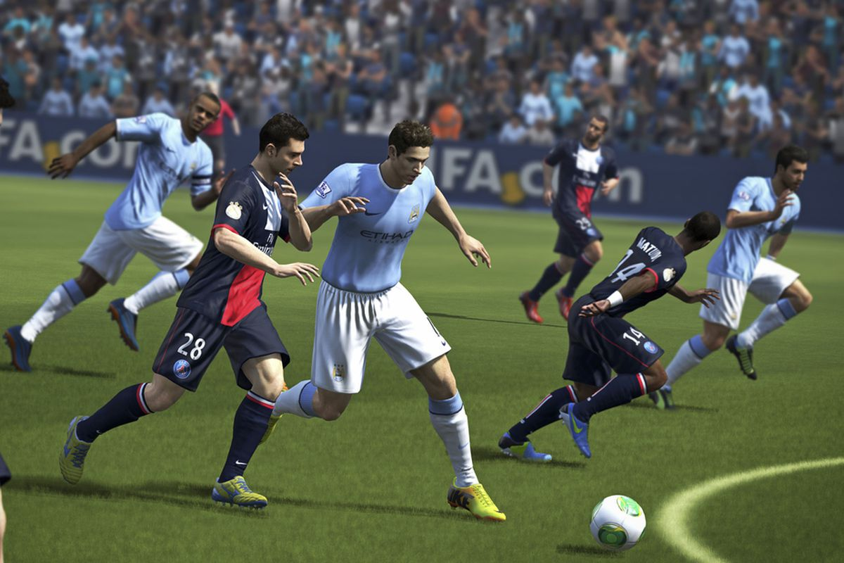 FIFA 14 gameplay action