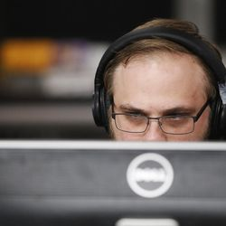 University of Utah graduate student Josh Levenson works on a project in Salt Lake City on Wednesday, April 5, 2017. Utah and it's nationally ranked Entertainment Arts & Engineering video game development program announced Wednesday that it is forming the U.'s first college-sponsored varsity esports program.