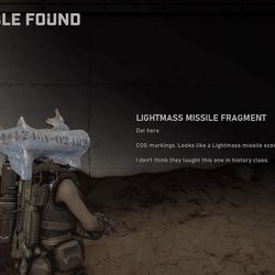 Collectible 11: Lightmass Missile Fragment
