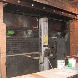 Kitchen in progress, mid-December.
