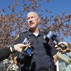 Salt Lake City Police Chief Chris Burbank talks about a warrant being served to the wrong house Friday, Oct. 5, 2012, in Salt Lake City.