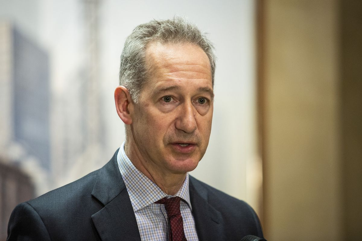 Chicago Inspector General Joe Ferguson speaks at a news conference in April 2019 at City Hall.