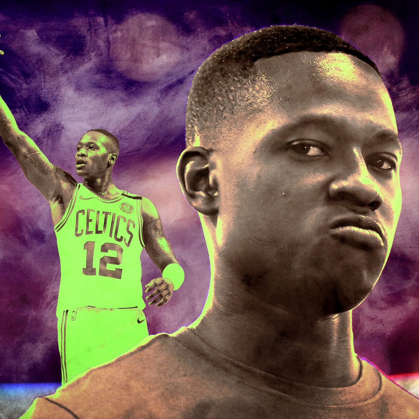 reputable site 1c816 ae7cc Scary Terry Rozier Goes Mainstream for Boston - The Ringer