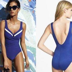 """<b>Susan Stapleton, <a href=""""http://vegas.racked.com"""">Racked Vegas</a> editor:</b> """"I love <b>Miraclesuit</b> for <b>shedding a size while at the pool</b>. It even comes with an underwire bra for extra lift. The one-pieces are super cute and don't look li"""