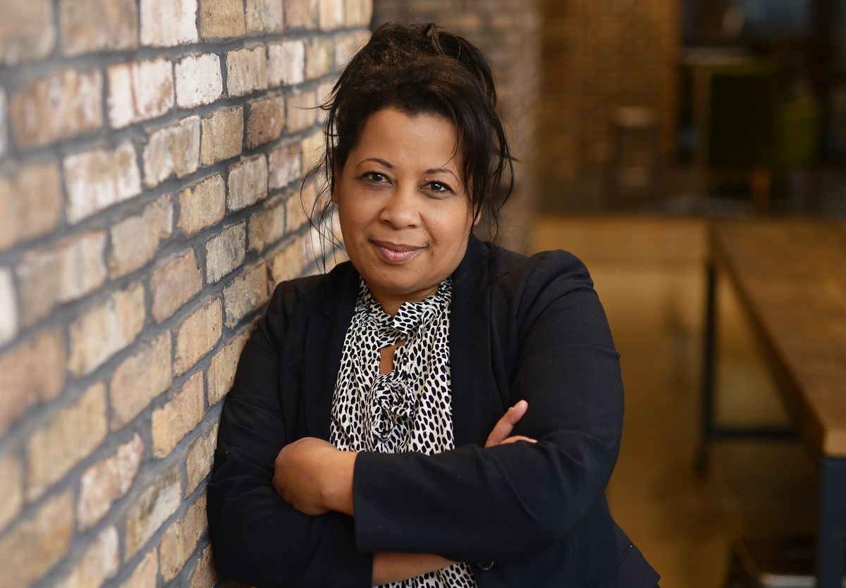 """Ann Joseph, a founding ensemble member of Congo Square Theatre Company, stars in """"Day of Absence,"""" which is being presented as part of the company's 20th anniversary season."""