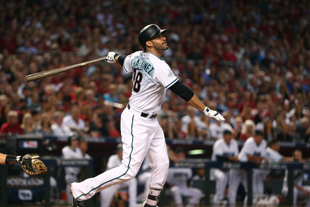 brand new 38e15 28cae J.D Martinez signs with the Boston Red Sox - AZ Snake Pit