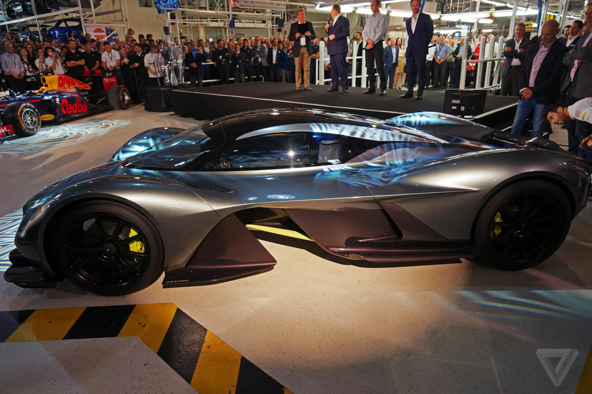 The Am Rb 001 Aston Martin And Red Bull S Hypercar Was Unveiled To Public For First Time Today At Uk Headquarters