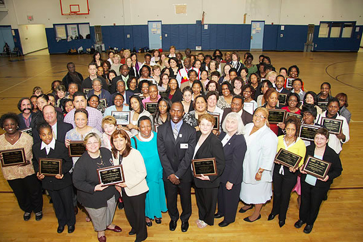 """In May 2008, many Newark public schools earned PACNJ's """"asthma-friendly"""" designation and participated in a ceremony, pictured above. Now, just 11 of the 64 schools have the title."""