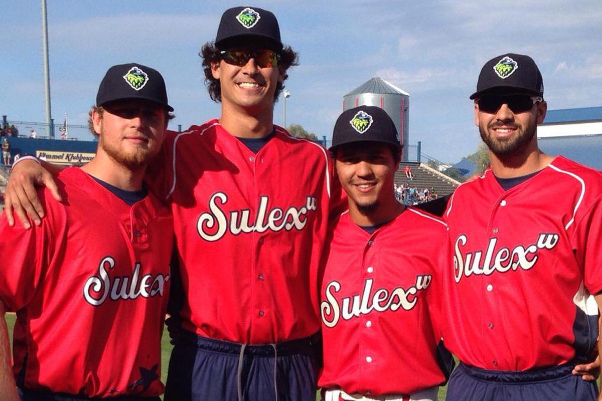 2015 NWL All-Stars: Cody Reed, Jared Miller, Carlos Hernandez and Zach Nehrir. #AllHoppedUp