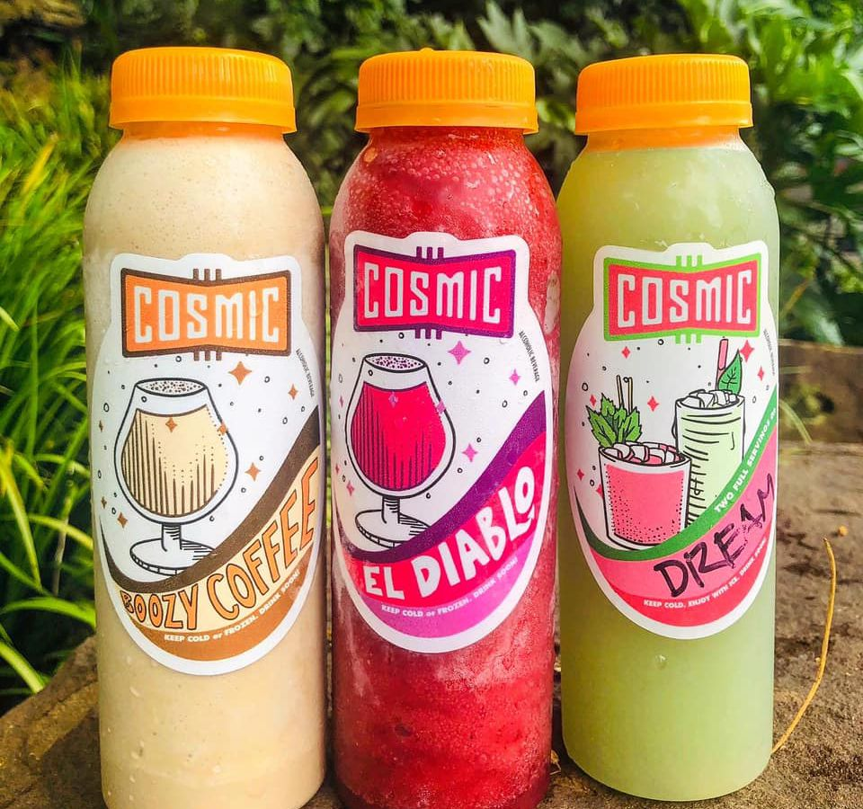 Frozen bottled cocktails to-go from Cosmic