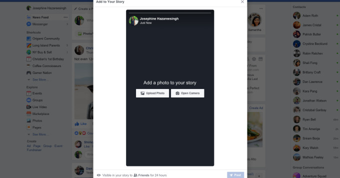 Facebook adds desktop uploads for its Stories feature - The