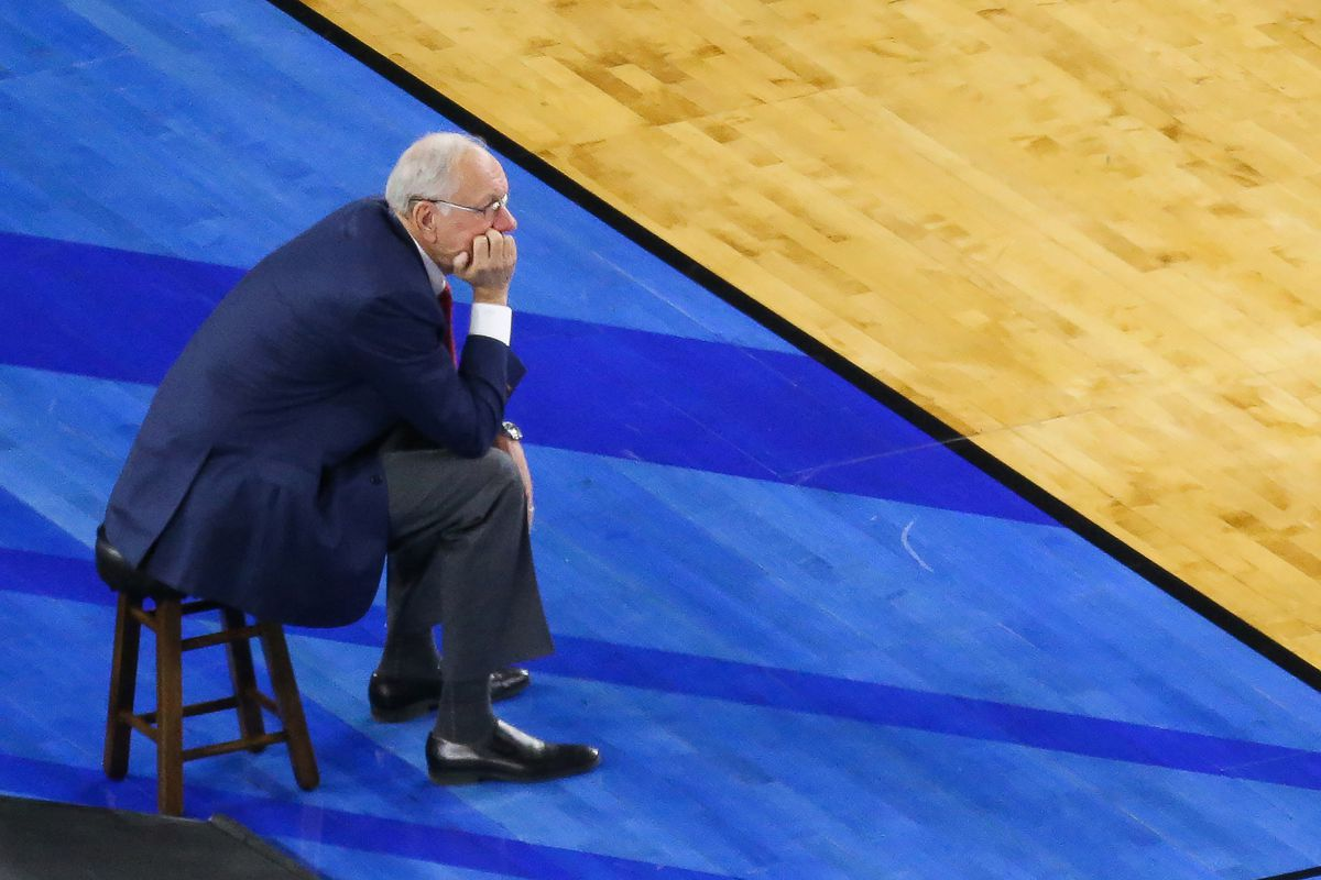 Despite all the issues, Olympic assistant coach Jim Boeheim is fairly relaxed.