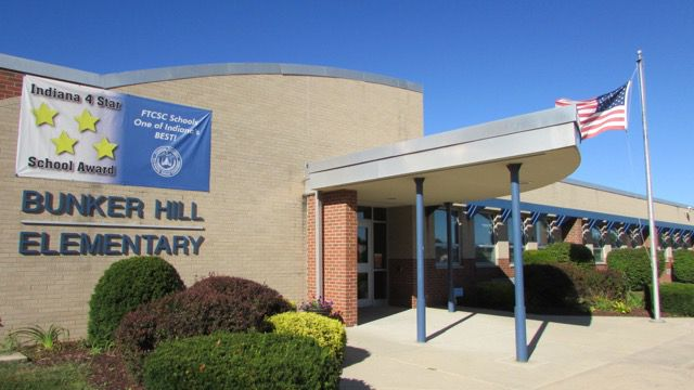 Franklin Township's Bunker Hill Elementary School has the highest passing rate among township schools on ISTEP in 2013-14.