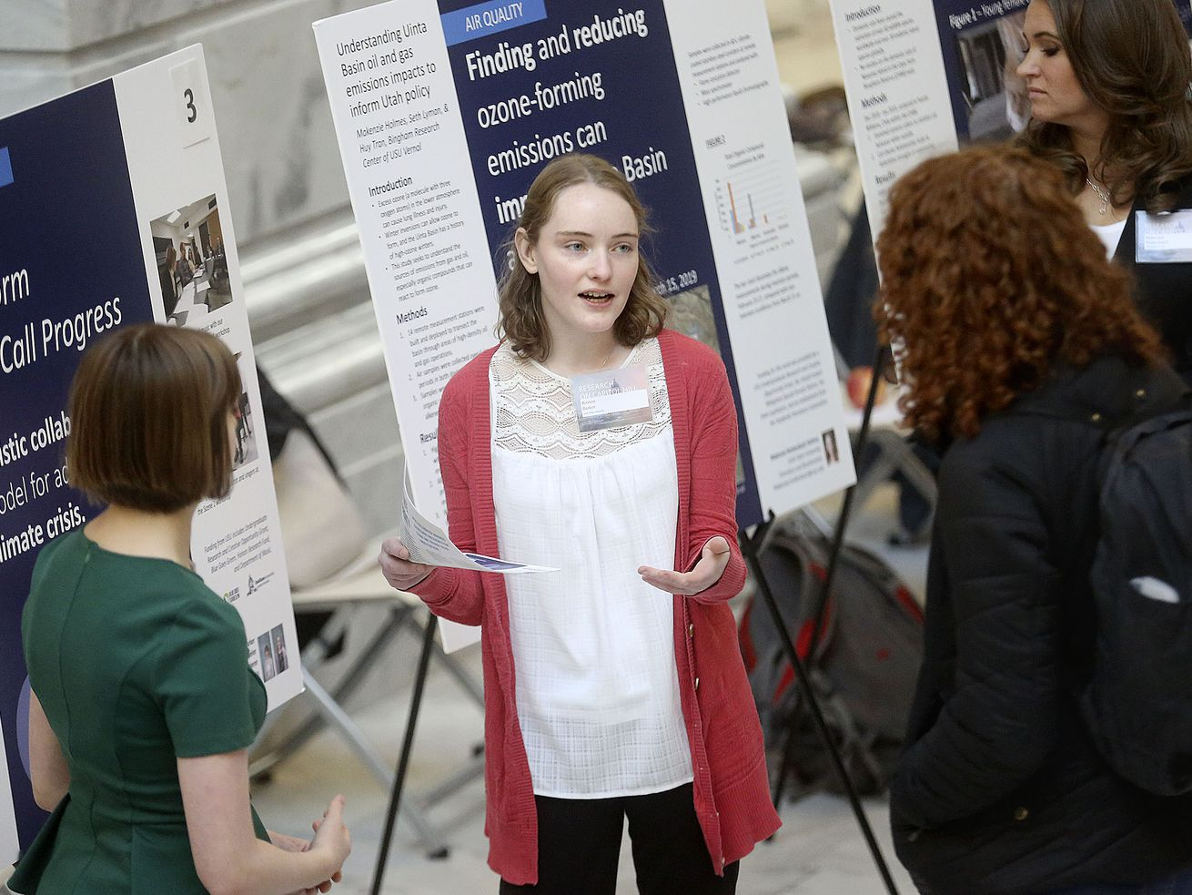 Undergraduates present research to lawmakers during annual event at the Capitol