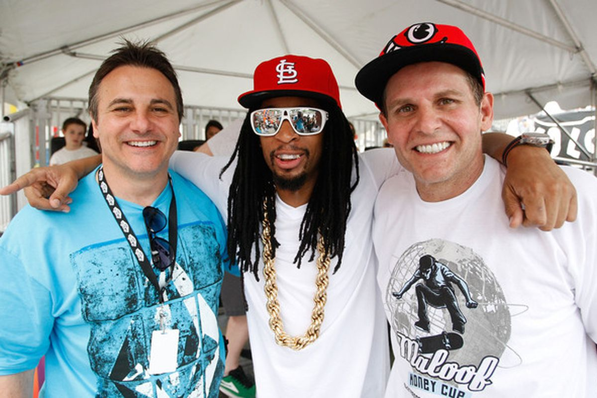 """I searched our photo database for """"money"""" and found this photo of the Maloofs with Lil' Jon. Nice."""