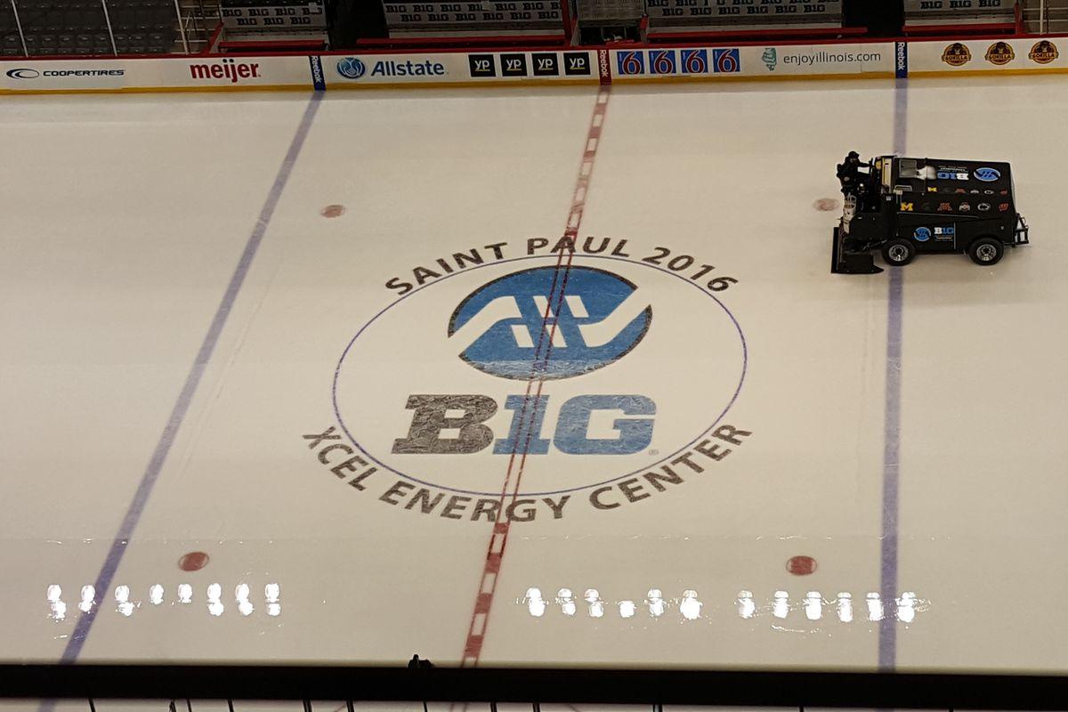 Center Ice at the B1G Hockey Tournament