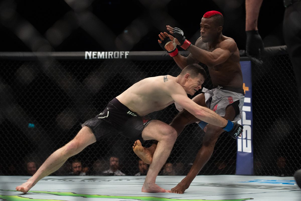 Marc Diakiese beats Joe Duffy by unanimous decision during UFC Fight Night 147 at the London O2 Arena, Greenwich on Saturday 16th March 2019.