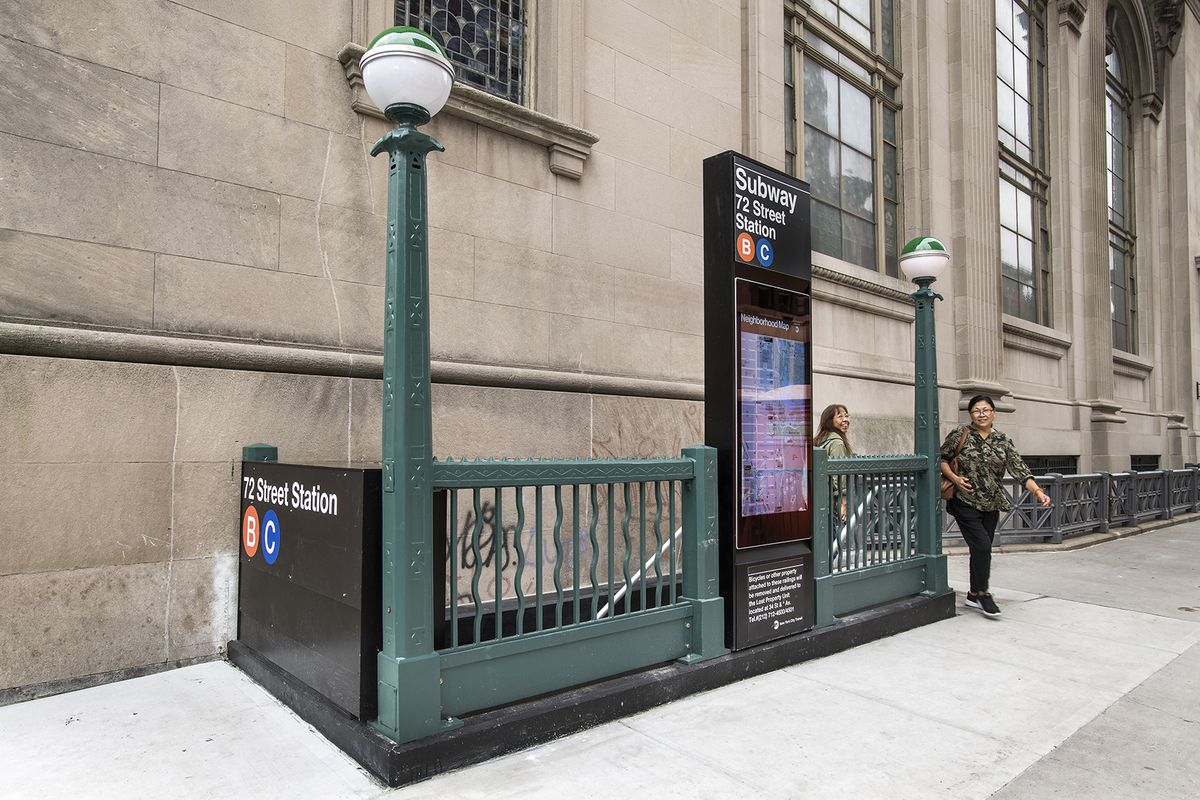 72nd Street Subway Map.72nd Street Subway Stop Reopens With Yoko Ono Artwork Curbed Ny