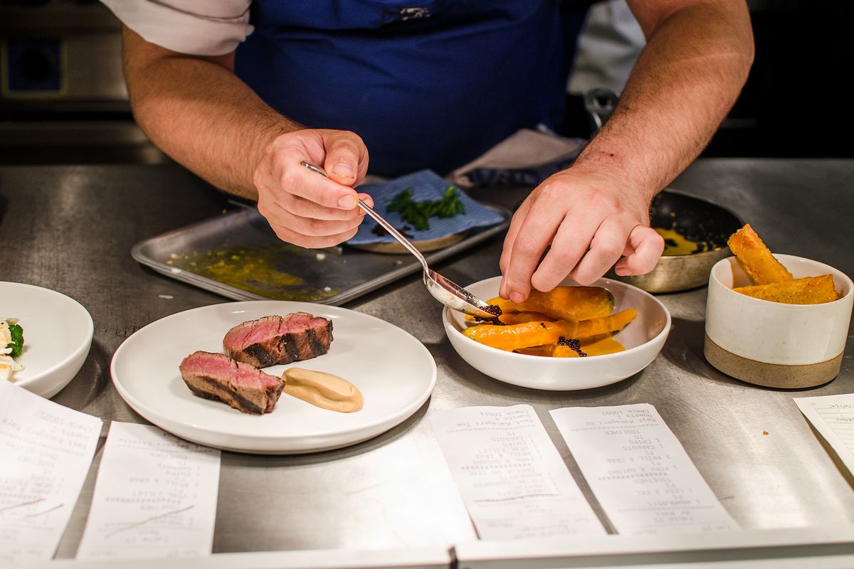 The kitchen at Cora Pearl, a new London restaurant in Covent Garden