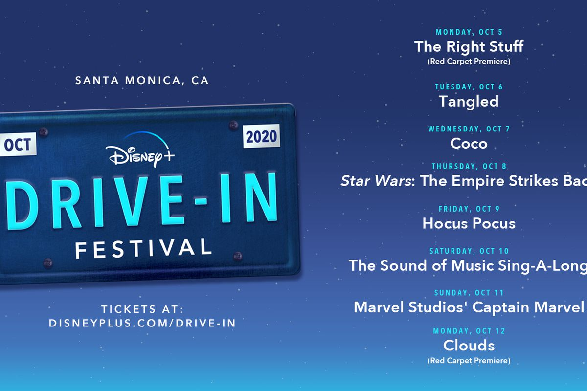 """Outdoor Screening Series Features World Premieres ofDisney+ Originals """"Clouds"""" and """"The Right Stuff"""" from National Geographic Alongside Public Screenings ofDisney+ All-Time Favorites """"The Simpsons,"""" """"Hocus Pocus,"""" """"Star Wars: The Empire Strikes Back,"""" """"The Sound of Music,"""" and more"""