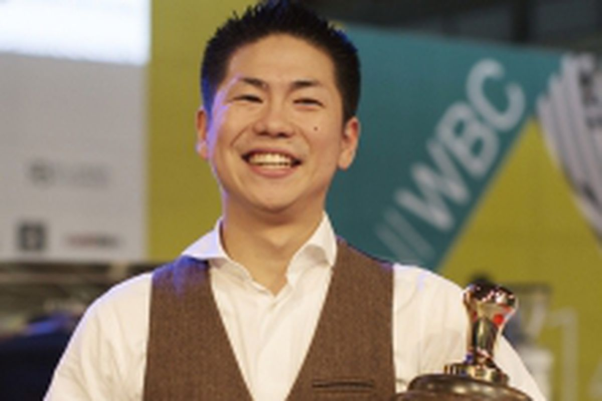 Japan's Hidenori Izaki, World Barista Champion 2014