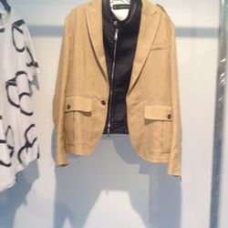 DSquared2 blazer with leather underlay (mens): $1,106
