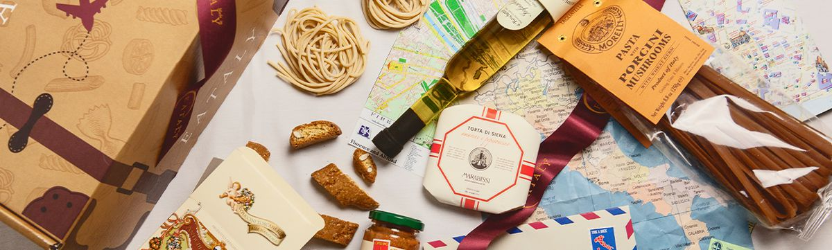 Gifts baskets at Eataly