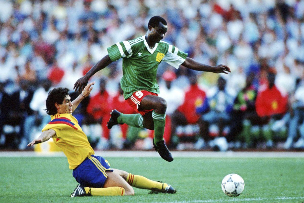 Fussball: WM 1990 in Italien, CMR - COL 2:1
