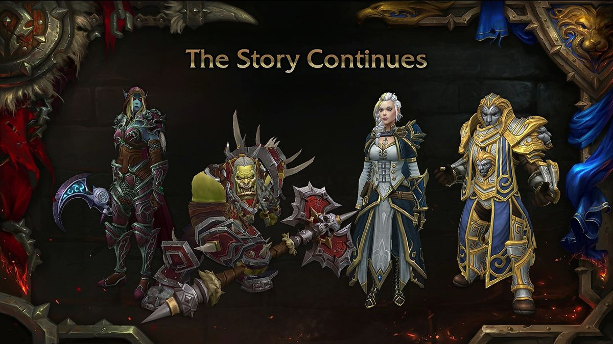 """World of Warcraft - a """"what's next"""" panel slide from BlizzCon 2018"""