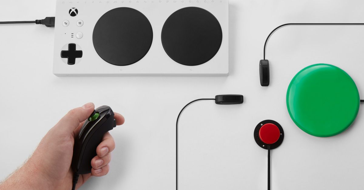 Microsoft's Xbox Adaptive Controller started out as two hackathon projects at the company after an idea from a veteran with limited mobility. Design