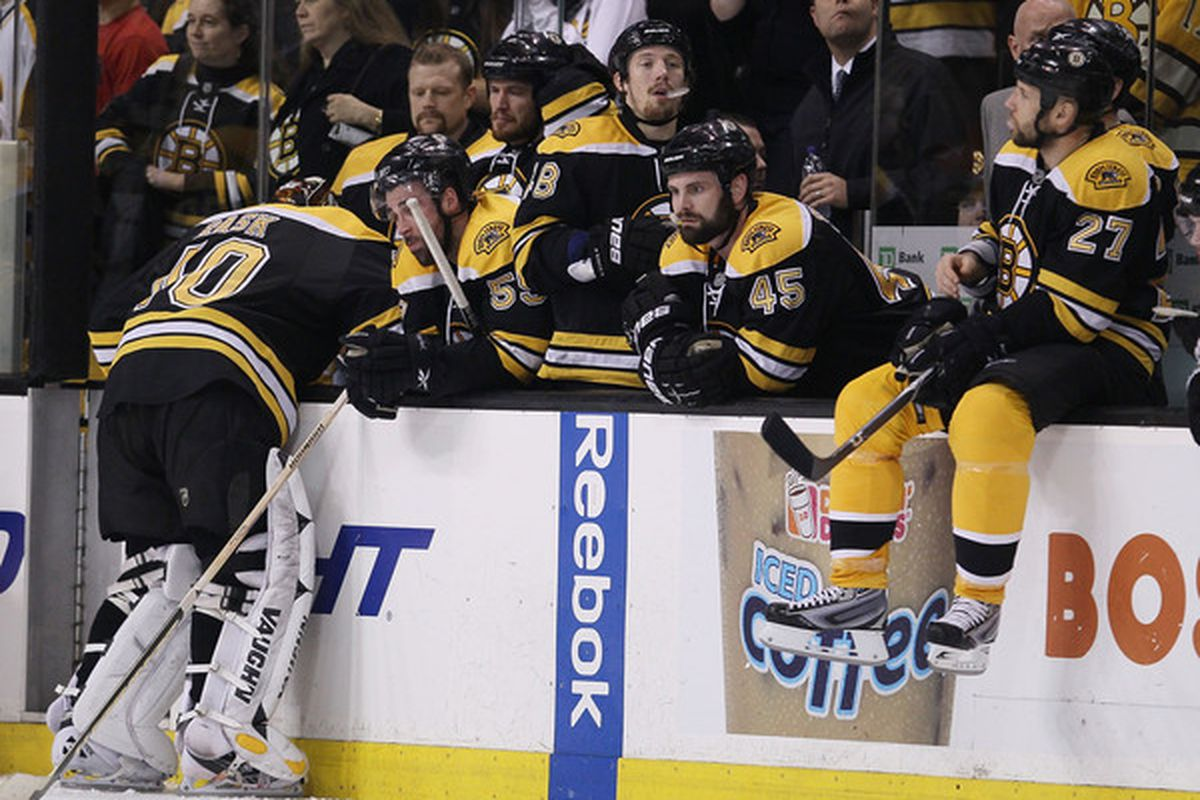 I figure Rask was tossing cookies there. Wouldn't you?