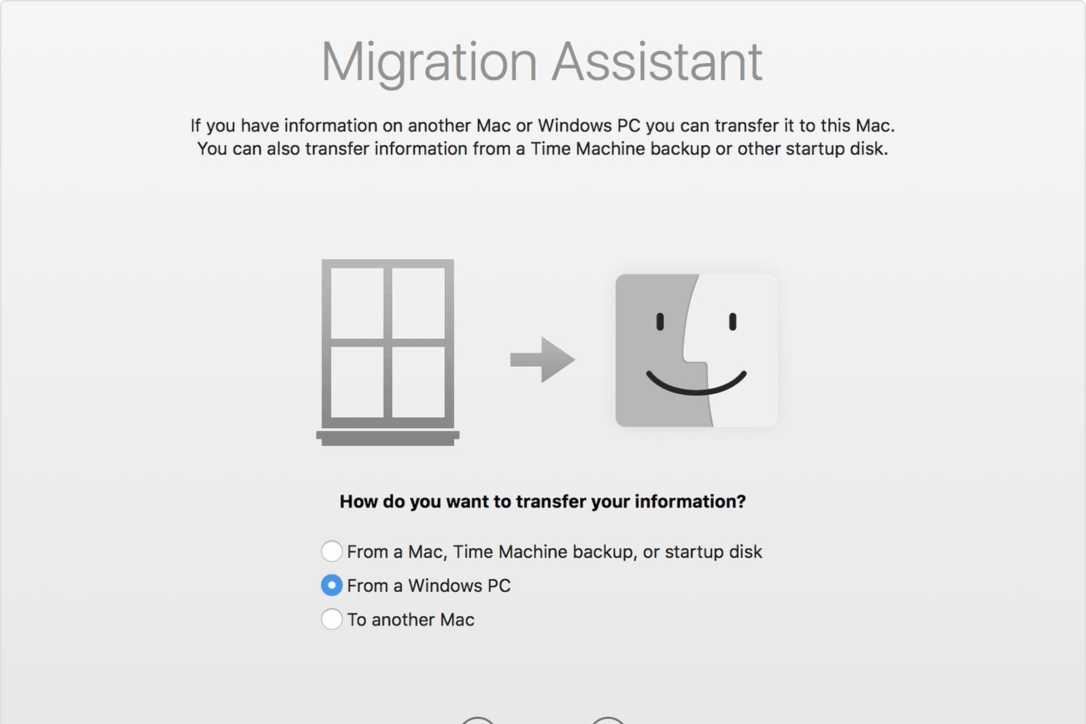 Asistente de migración macOS