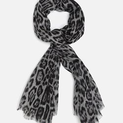 """Blui <a href=""""http://www.intermixonline.com/product/blui+leopard+scarf.do?sortby=ourPicks&from=Search"""">Leopard Print Scarf</a>, $199 at Intermix."""