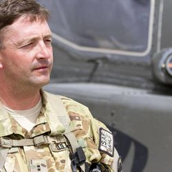Chief Warrant Officer 2 Brad Young serves in Kandahar Airfield, Afghanistan.