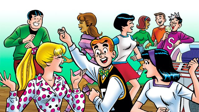 The cast of Archie boogies down.