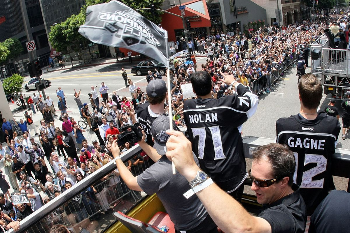 051d32fee Kings Parade 2012  Stanley Cup Champions Take Over Downtown Los Angeles
