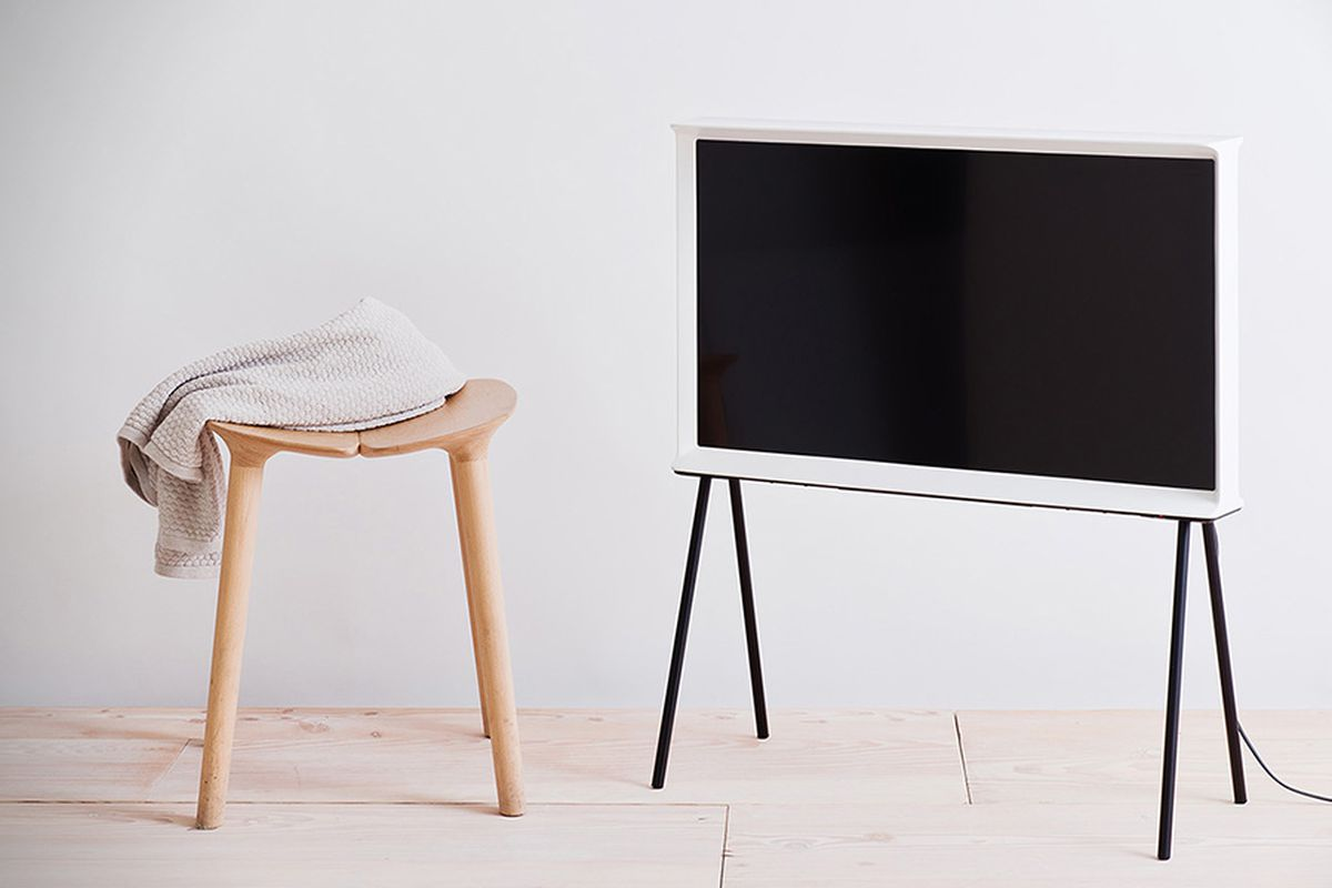 samsung 39 s polarizing serif tv is now available in the us for 1 499 the verge. Black Bedroom Furniture Sets. Home Design Ideas
