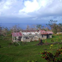 A home in Nguna, Vanuatu, is still missing its roof weeks after Cyclone Pam.