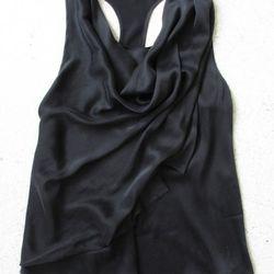 Racer-back draped top, $320