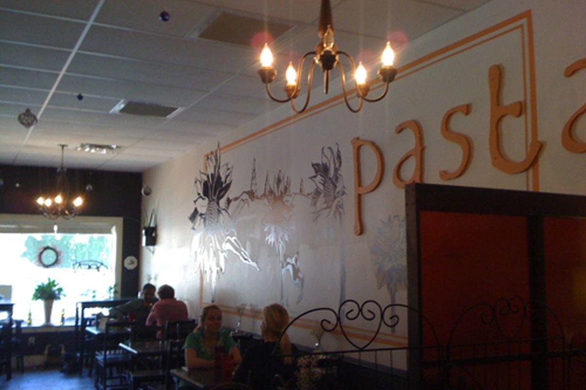 The dining room at Saba, Emory Village.