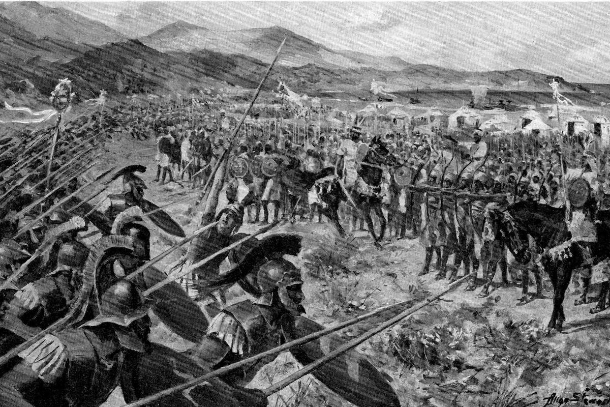 The Battle of Marathon, decisive battle