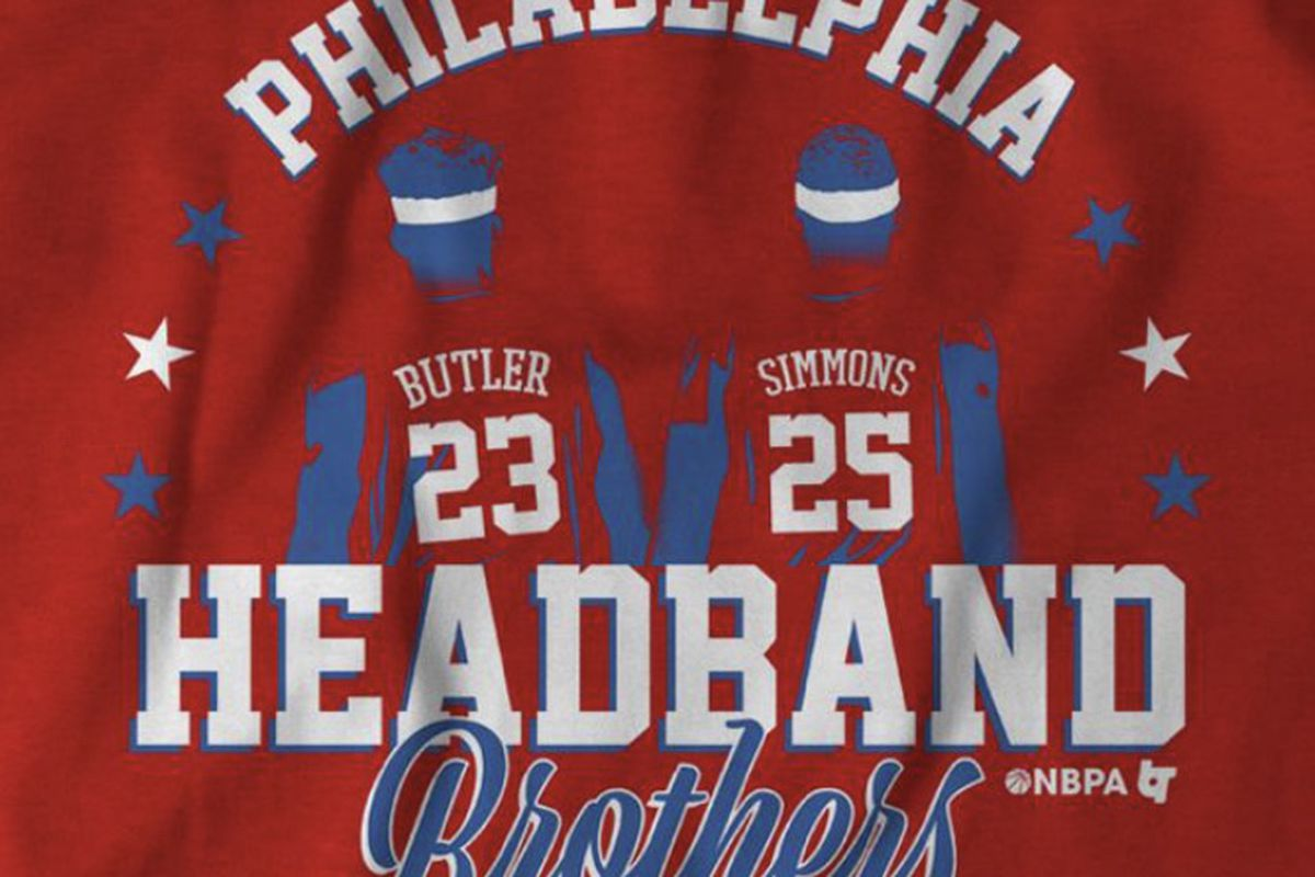 huge selection of 3f3f6 28a3d Ben Simmons and Jimmy Butler Headband Brothers T-Shirt for ...