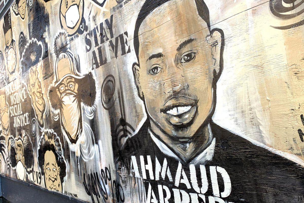 Ahead Arbery mural