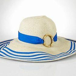 "<a href=""http://www.ralphlauren.com/product/index.jsp?productId=12504626&cp=1760782.3046427&view=all&ab=viewall&parentPage=family""> Lauren by Ralph Lauren striped grosgrain hat</a>, $44.00, ralphlauren.com"