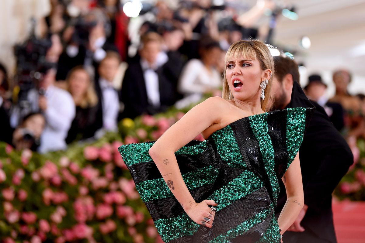 The 2019 Met Gala Celebrating Camp: Notes on Fashion - Arrivals, Miley Cyrus went for Michelin-starred Indian food at Gymkhana in Mayfair